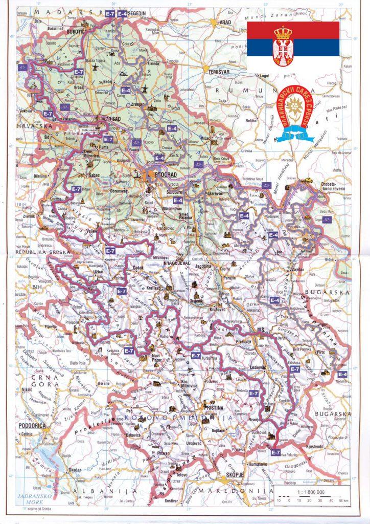 mapa-evropski-pesacki-putevi-u-srbiji